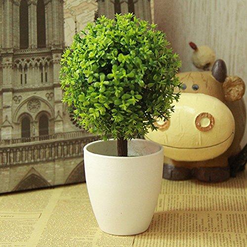 Mayitr Künstlichen Topiary Baum Topfpflanzen Pflanzen Garten Home Decor 1 Stück Grün
