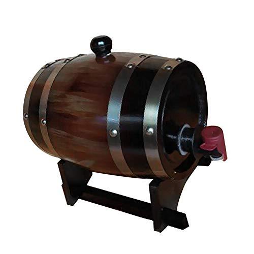 Holzfass für Bartisch Holz Exquisite und schöne Handwerk Weinfass 15L für Wasser Wein Kaffee usw 158x230mm
