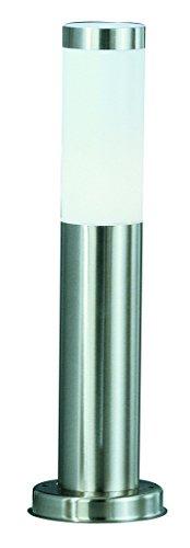 Globo Außenleuchte Sockel Edelstahl Zylinder opal exklusiv 1 x 60W E27 IP44 H 45 cm ø 13 cm bzw 76 cm 3158
