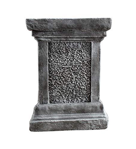 Tiefes Kunsthandwerk Säule in Schiefergrau Deko Sockel für Haus und Garten Steinguss Podest für Figuren frostsichere Empore für Statuen