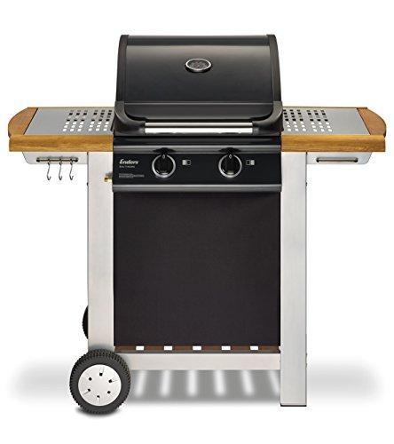 Enders BBQ Gasgrill BALTIMORE Gas Grill 81496 2 Guss-Brenner Grillwagen mit Deckel Thermometer Warmhalterost stabile Seitenablage