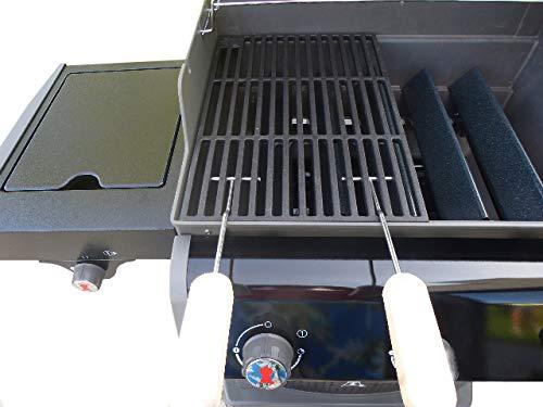 Gusseisen Grillrost 42 kg Grillclub für Weber Spirit E 310 320  2 Griffe Grill Guss A