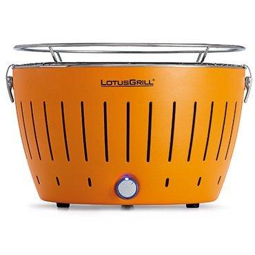 LotusGrill rauchfreier Holzkohlegrill mandarinenorange D35 cm