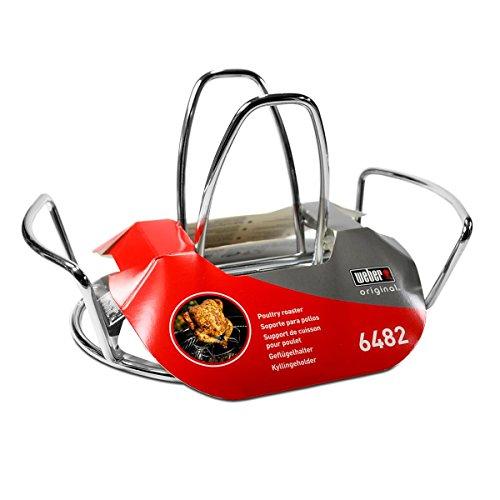 Weber Geflügelhalter Für knuspriges Hähnchen vom Grill Geeignet für alle Holzkohlegrills ab 57cm und Gasgrills ab Weber Q300