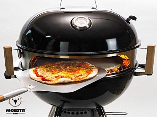 Moesta-BBQ Smokin PizzaRing für Kugelgrill für 57cm Kugelgrills Erweiterbar mit Rotisserie Churrasco und Pan