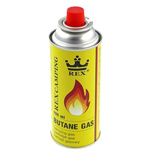 8x 227g - 400ml Butan Gaskartuschen mit Ventil für Grill Lötlampe Campingkocher Gasheizung Lötbrenner Lötmeister --- Brenndauer bis zu 3h Butangas MSF-1a 227
