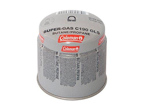 Coleman Gaskartusche C190 GLS Stechkartusche für Campingkocher Gaskartusche mit 80-20 Butan-Propan Mischung Füllgewicht 190 g Einwegkartusche