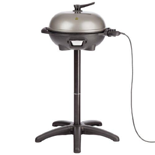 Ultratec BBQ Elektro-Kugelgrill und Thermostat 2-in-1 Grill Tisch- und Standgrill schwarzgrau