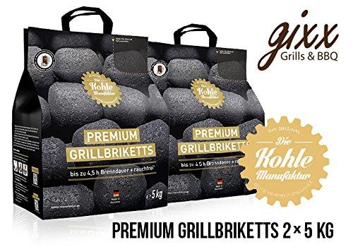 Kohlemanufaktur Premium Grillbriketts 2 x 5 kg