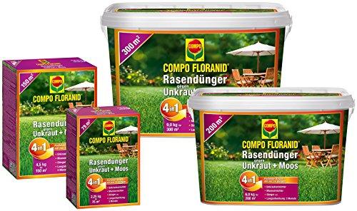 Floranid Rasendünger 4 in 1 gegen Unkraut Moos - 225 kg