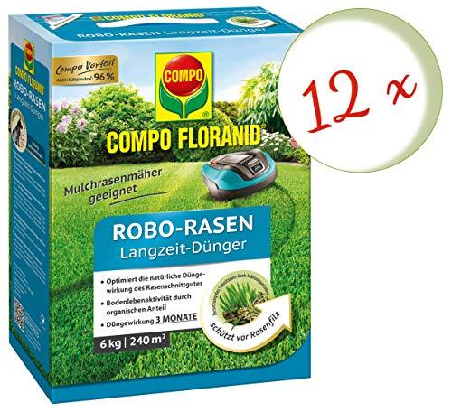 Oleanderhof Sparset 12 x COMPO Floranid Robo-Rasen-Langzeitdünger 6 kg  gratis Oleanderhof Flyer
