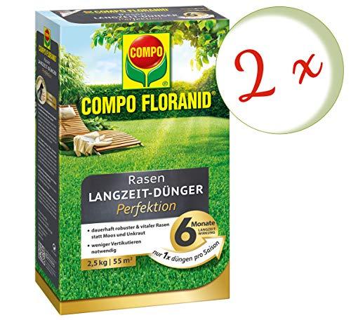 Oleanderhof Sparset 2 x COMPO Floranid Rasen-Langzeitdünger Perfektion 25 kg  gratis Oleanderhof Flyer