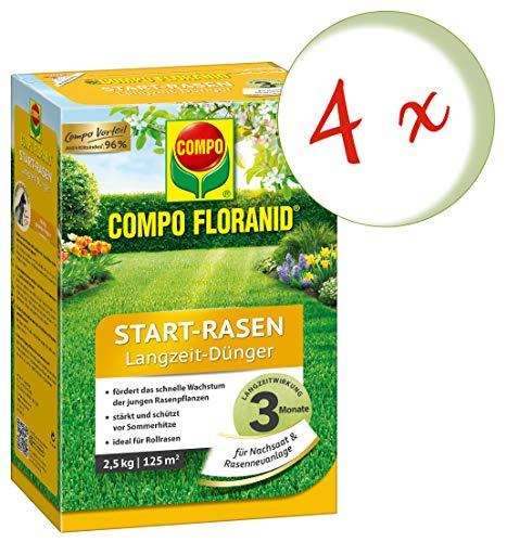 Oleanderhof Sparset 4 x COMPO Floranid Start-Rasen Langzeit-Dünger 25 kg  gratis Oleanderhof Flyer