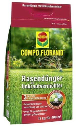 COMPO UV RASEN FLORANID Unkrautvernichter Rasendünger 12kg