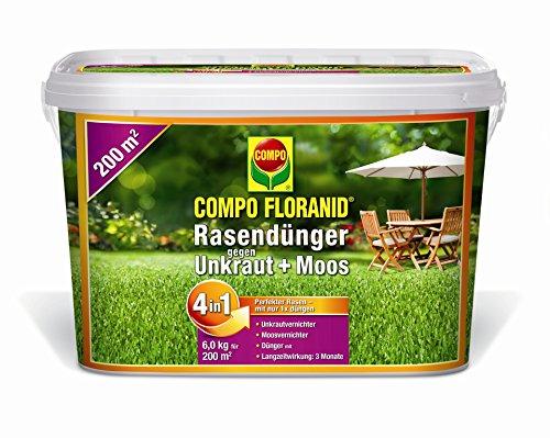 Compo FLORANID Rasendünger gegen Unkraut  Moos 4in1 - 6 kg