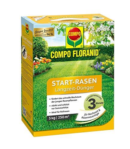 Compo Floranid Start-Rasen Langzeit-Dünger 5 kg optimale Langzeitversorgung 3 Monate schnelles und sicheres Anwachsen