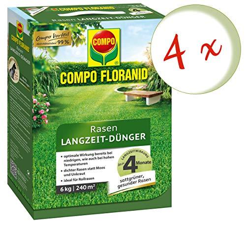 Oleanderhof Sparset 4 x COMPO Floranid Rasen-Langzeitdünger 6 kg  gratis Oleanderhof Flyer