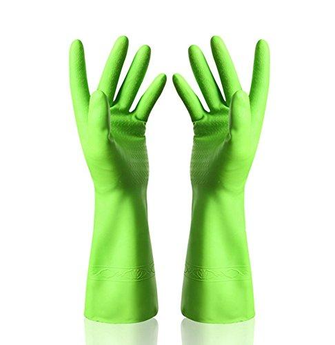 Distinct 1 Paar Gummi Latex Geschirrreinigung Reinigung Handschuhe Haushalt Küche Handschuh Grün