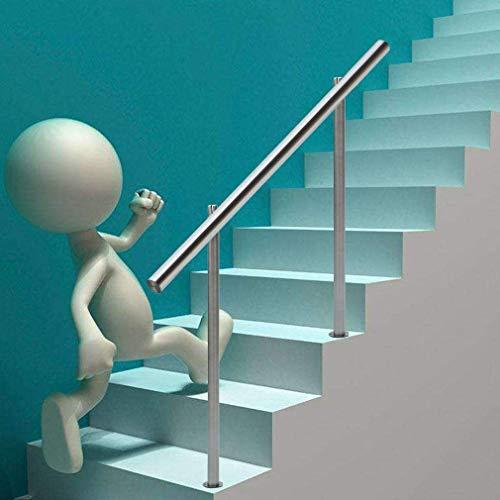 Homgrace Edelstahl Geländer Handlauf Treppengeländer für Treppen Brüstung Balkon Terrasse Höhe 100 cm kein Querstreben