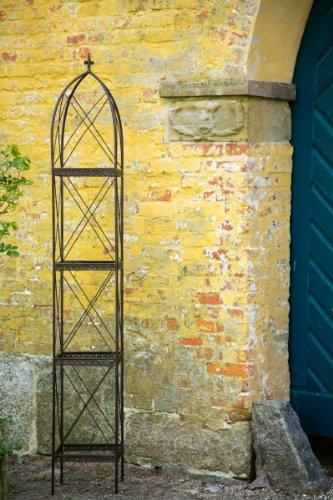 KUHEIGA Rankgerüst Rankhilfe aus Metall H 270cm Breite 39cm Rankturm Obelisk