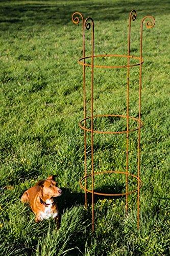 KUHEIGA Stabile Rankhilfe Metall H 160cm Ø 40cm Rankgerüst Obelisk RoheisenRost Rankturm