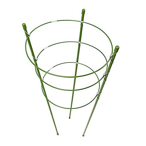 2 Stück Pflanzen-Halterungsring Garten Rankhilfe Pflanzen-Stütze Käfig mit 3 verstellbaren Ringen für Topfpflanzen Kletterpflanzen Gemüsepflanzen Blumen