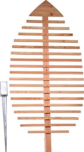 dobar Pflanzen-Rankhilfe Design in Blattform Rankgitter aus Holz XXL-Rankgerüst Lärche natur 84x65x160 cm 58211e