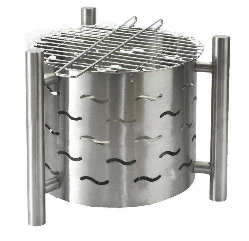 Tepro Feuerstelle mit Grillfunktion Silverado Silber