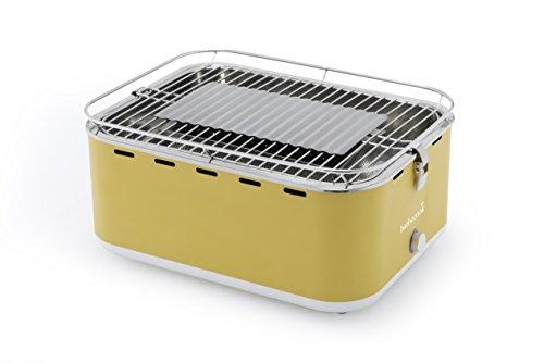 Barbecook rauchfreier Holzkohlegrill  Tischgrill Carlo mit Tragetasche gelb 435 x 335 x 205 cm 2235925000