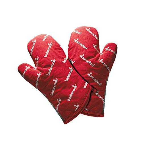 barbecook Paar Rote Kurze Grillhandschuhe Grillzubehör 28x3x20 cm