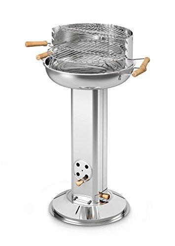 Enders BBQ Holzkohle-Grill UTAH Säulengrill 8502 aus Edelstahl stabil TÜVGS geprüft