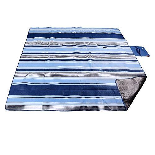 200 x 200 CM XXL Picknickdecke Fleece wasserdicht mit Tragegriff für Picknick Camping