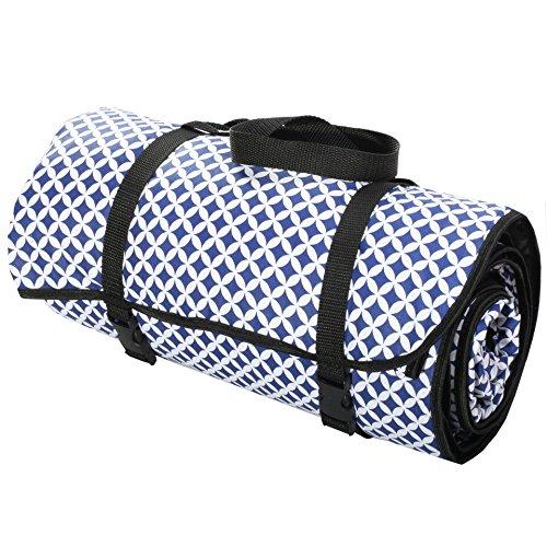 4L Textil Picknickdecke Decke Campingdecke Stranddecke Reisedecke Matte Baumwolle Marokko dunkelblau