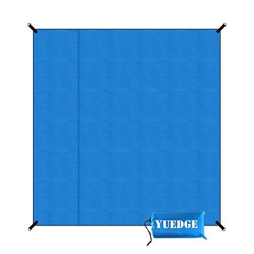 YUEDGE 21m×2 m Picknickdecke Stranddecke Wasserdicht Sanddicht Tragbar Ultraleicht Campingmatte Freibaddecke L Blau
