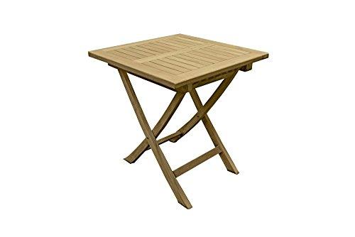 Garden Pleasure Teak Gartentisch Solo 70x70 Garten Holz Esstisch Tisch klappbar