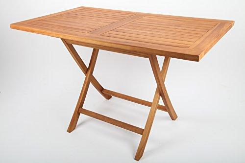 point-garden Gartentisch aus Teak-Holz rechteckig Gartenmöbel