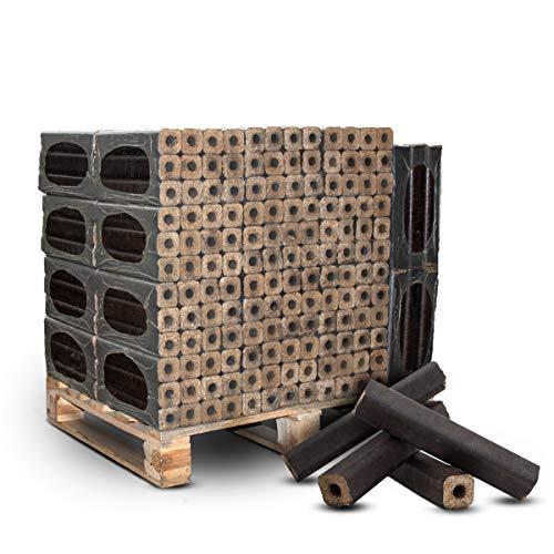 PALIGO Holzbriketts PiniKay Mischholz Buche Eiche Nadelholz Kamin Ofen Brenn Holz Heiz Brikett 10kg x 30 Gebinde 300kg  1 Palette Heizfuxx