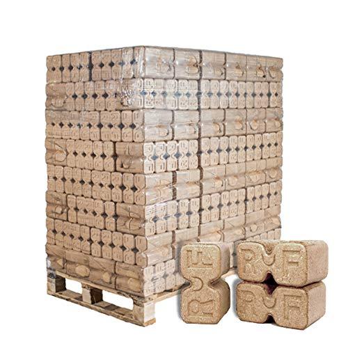 PALIGO Holzbriketts Ruf Duplex Hartholz Eiche Kamin Ofen Brenn Holz Heiz Brikett 10kg x 96 Gebinde 960kg  1 Palette Heizfuxx