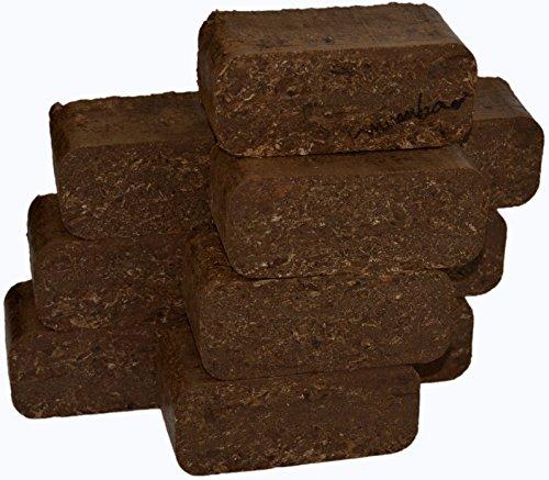 mumba - Probierset Rindenbriketts 30kg Holzbriketts Holz-Briketts aus Rinde - ideal als Gluthalter