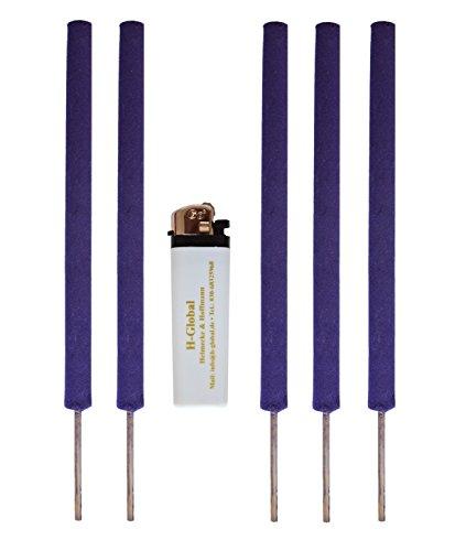 Antimücken-Fackeln mit Lavendelduft Mückenabwehr Insektenabwehr Mückenschutz  Feuerzeug
