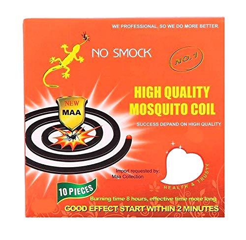100 Insektenspirale Antimücken-Spirale Wirksame Mückenabwehr Insektenschutz Extra Lange Brenndauer Moskito Schutz Wirkt sicher und zuverlässig