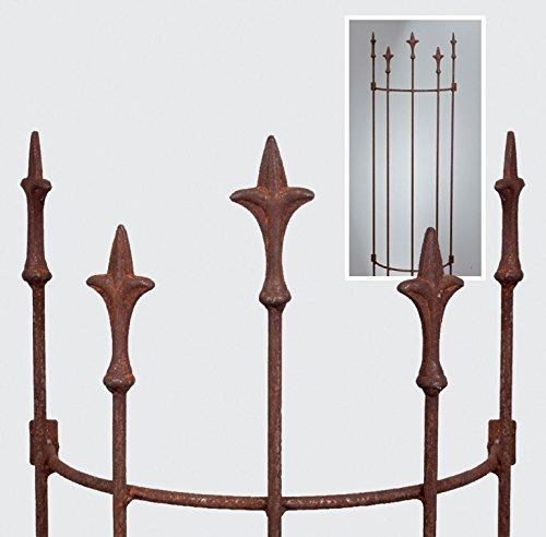 Rankgitter mLilien rost 115cm