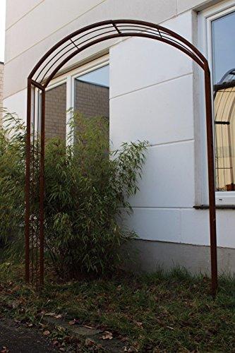 Zen Man Garten Rosenbogen Rost aus edelrost Metall Gartendeko Garten Rankhilfe Spalier Rost Rosenranke 031787 11030220cm