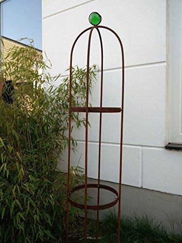 Edelrost Garten Rankhilfe Stark Material Rosensaeule Rankgitter Rosengestell Rankturm Rosenbogen Rost Gruen 1302525cm 031788-3