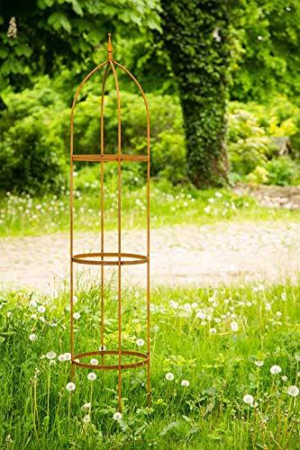 KUHEIGA Rankgerüst 10mm Rost Obelisk Rosenhilfe H 200cm Rankhilfe