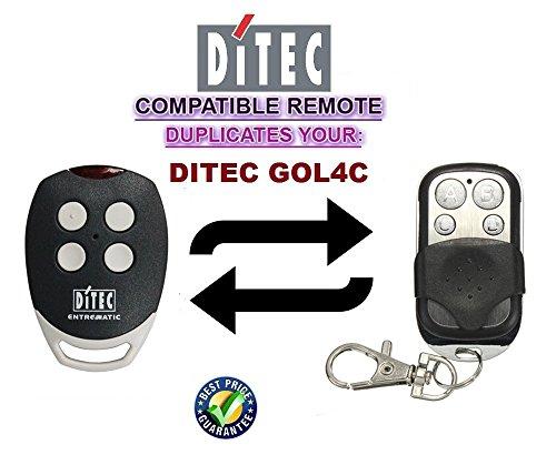 Ditec GOL4C Garagentor Fernbedienung Sender Geeignet 4 Kanal Kompatibel Handsender 43392 Mhz