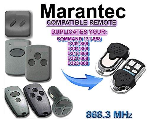 Marantec Garagentor Fernbedienung Sender Geeignet für D382D384D302D304D313D321323COMMAND 131 4 Kanal Kompatibel Handsender 868 Mhz