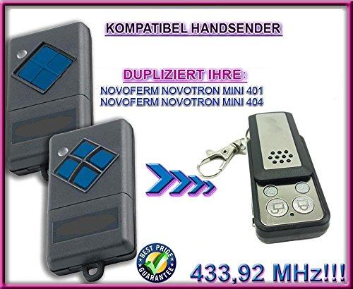 Novoferm Novotron Garagentor Fernbedienung Handsender Geeignet für MINI 401  MINI 404 Kompatibel Ersatz sender Fixed code 43392mhz