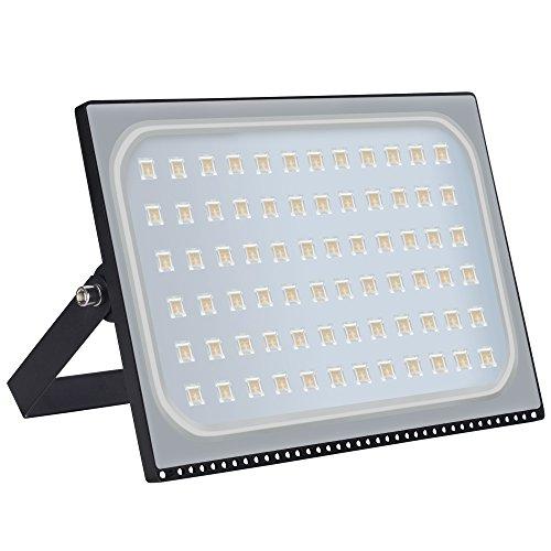 500W Ultradünnes LED-Flutlicht Außenstrahler Hohes Buchtlicht-Wandlicht Extrem helles Sicherheitslicht Wasserdicht IP67 50000LM 2800-3500K AC 220-240V Energieeffizienzklasse A  Warmweiß 500W