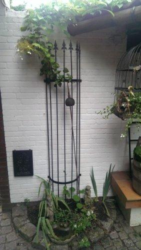 KUHEIGA Rankhilfe Höhe 180cm Blumenwand 10mm EISEN Rankgerüst Schwarz